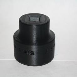 """Download free 3D printing models Water Main Shutoff Tool - 1/2"""" Drive, rebeltaz"""
