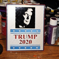 Free 3D printer files Trump 2020 Election Poster, rebeltaz