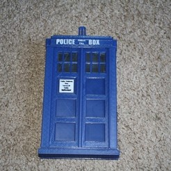 Free 3D printer designs Doctor Who TARDIS Enclosure For Sabrent Hard Drive Enclosure, rebeltaz