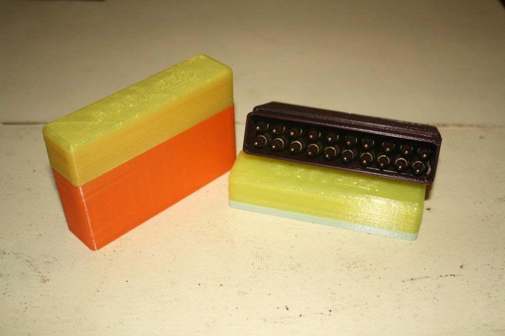 IMG_1817.JPG Download free STL file 5.56 / .223 Ammo Storage Box (20 rds) • 3D printable object, rebeltaz