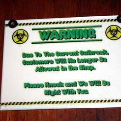 IMG_1627.JPG Download free STL file Plague Plaque - a COVID-19 Quarantine Sign • Design to 3D print, rebeltaz