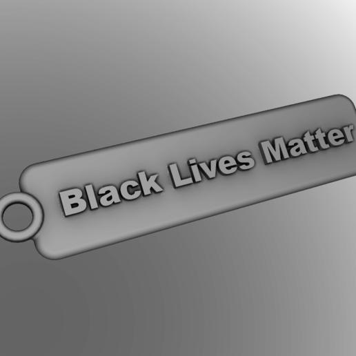 Download free 3D printing designs Lives Matter Keychains, rebeltaz