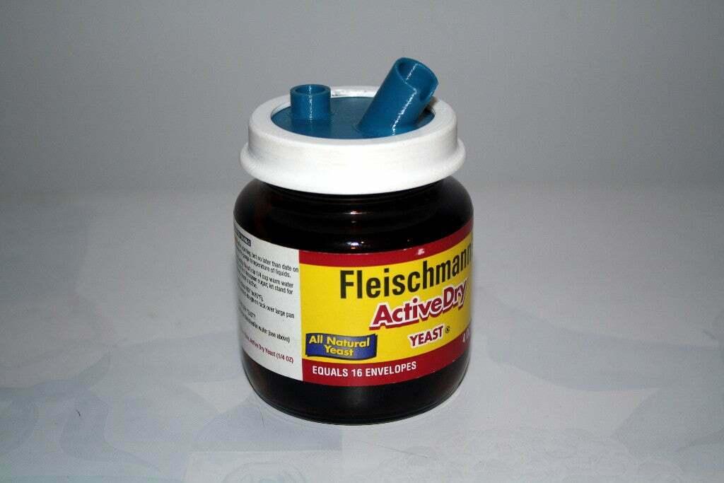 IMG_2018.JPG Download free STL file Airbrush Cleaner Set For Yeast Jar • 3D printable design, rebeltaz