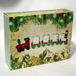 Download free 3D printer files Custom Case for the Noel Holiday Candle Train, rebeltaz