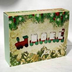 Télécharger fichier impression 3D gratuit Étui sur mesure pour le train de bougies des fêtes de Noel, rebeltaz