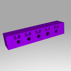 render.png Télécharger fichier STL gratuit Bloc de test de trou de base • Modèle pour impression 3D, rebeltaz