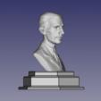 Download free 3D model Nikola Tesla Bust with Base and Name Plate, rebeltaz