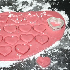 Download free 3D printer model Heart Shaped Candy Cutter with Bonus Recipe, rebeltaz