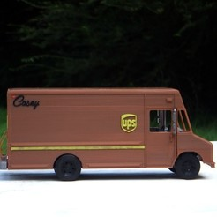 Download free 3D printing models UPS Truck - Repaired Front Wheel, rebeltaz