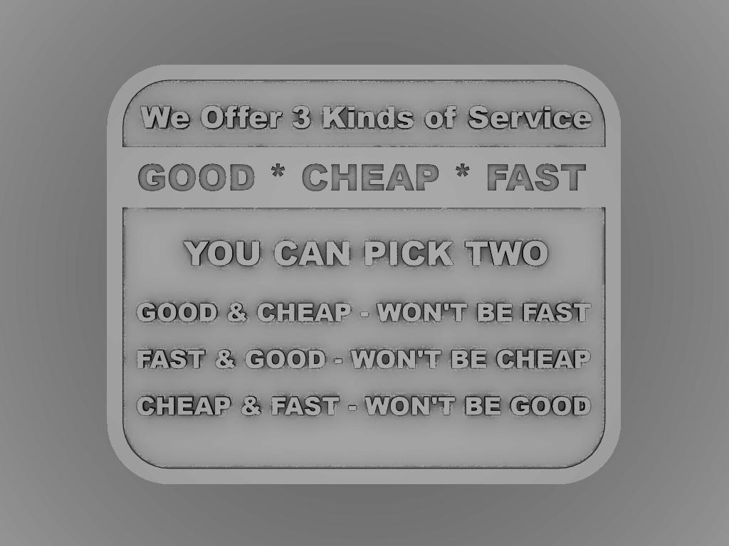 render.png Download free STL file Good-Fast-Cheap Sign Plaque • 3D printable model, rebeltaz