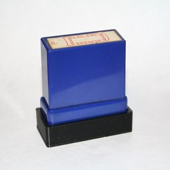 "81e49e19c8ea621f83735c134aed12a5_display_large.JPG Download free STL file Cap For ""Paid"" Self Inking Rubber Stamp • 3D printing model, rebeltaz"
