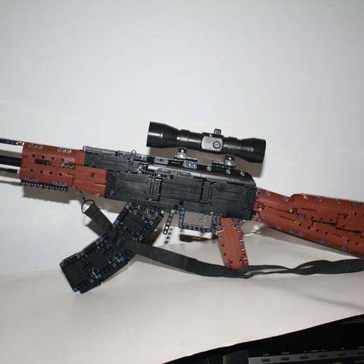 Download free STL file CADA (Lego-Compatible) AK-47 Modification • 3D printing template, rebeltaz
