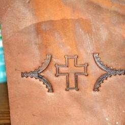 Download free 3D printer designs Leather Cross Imprint Stamp, rebeltaz