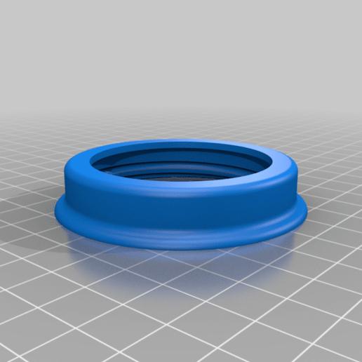 ring.png Download free STL file Airbrush Cleaner Set For Yeast Jar • 3D printable design, rebeltaz