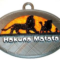 Free 3D printer files Hakuna Matata - Lion King Keychain, rebeltaz