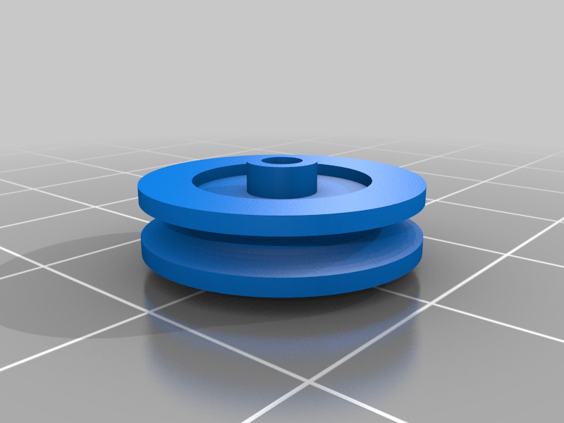wreathPullley.png Download free STL file Christmas Train Musical Wreath Pulley • 3D printing template, rebeltaz