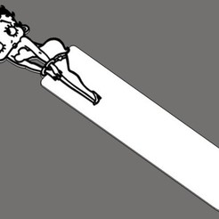 Fichier imprimante 3D gratuit BoopMark - le signet Betty Boop Bookmark, rebeltaz