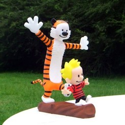 Download free STL files Calvin and Hobbes, rebeltaz