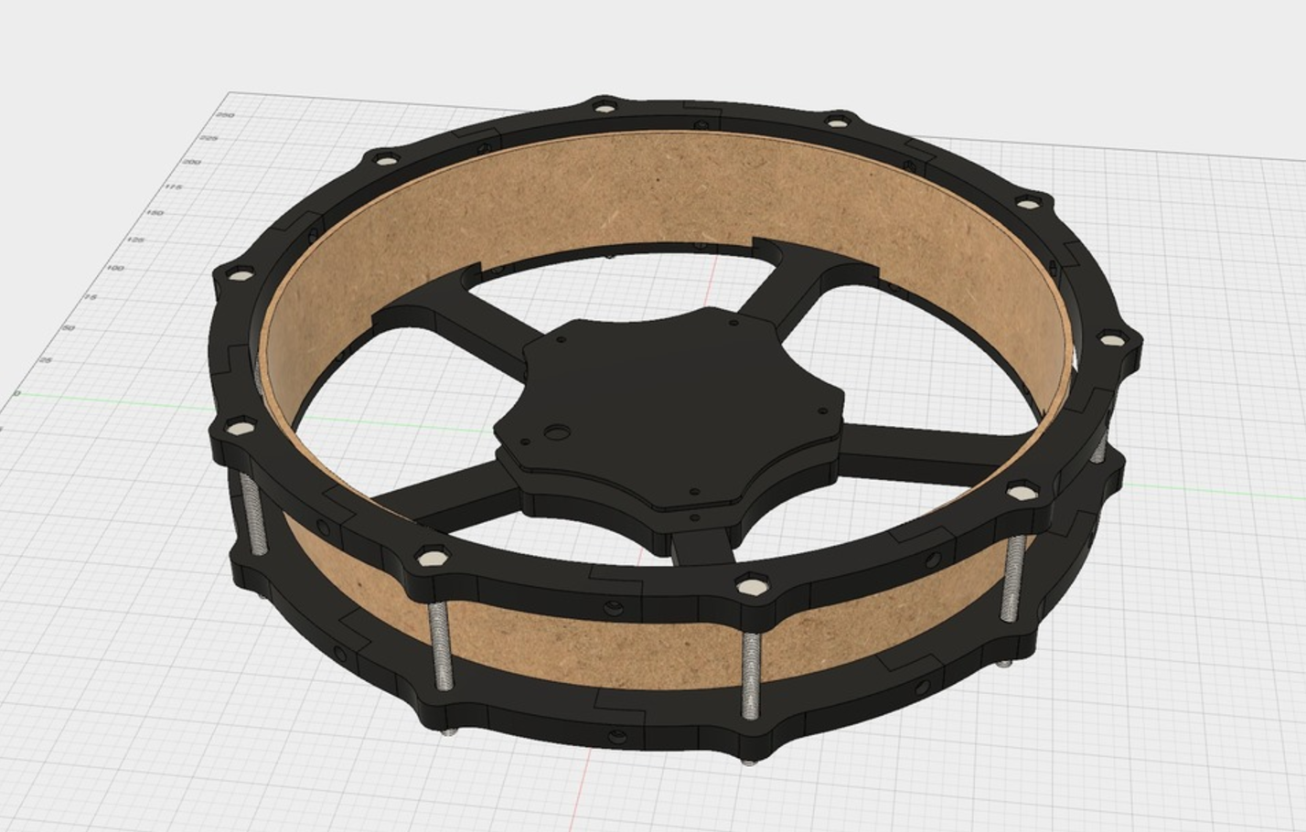 Download free 3D printing files 12 inch e-drum pad with