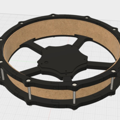 Download free 3D printing files 12 inch e-drum pad with small 3d printer, RyoKosaka