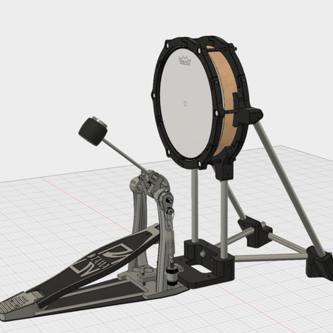 Capture d'écran 2018-01-26 à 17.07.03.png Télécharger fichier STL gratuit 8 pouces Bass Drum Pad Ver.2 • Plan imprimable en 3D, RyoKosaka