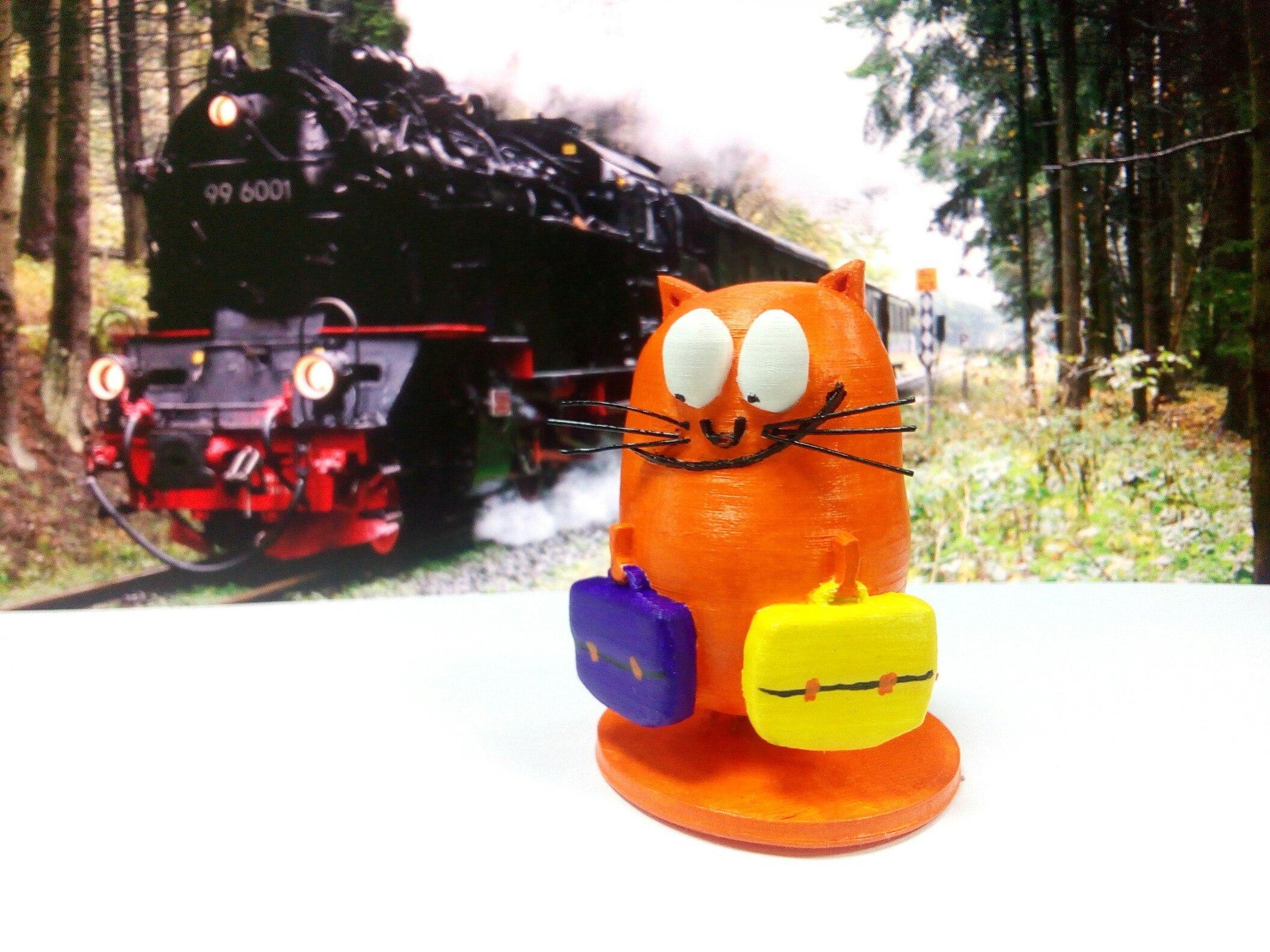 HbGWHy9w8h8.jpg Download STL file Cat with bags • 3D printer model, MaDdIaBlO