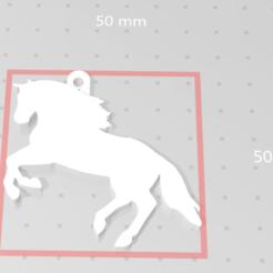 Descargar modelo 3D Llavero de caballo, Pin