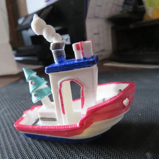 Download free 3D printer designs Benchy Christmas, Jicede71