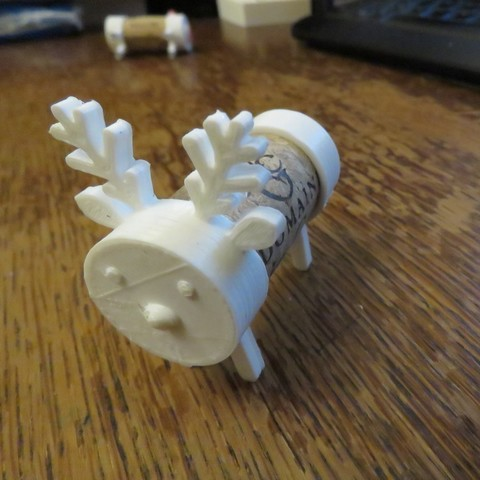 Free 3D print files Cork Pals: Frankly my Deer, Jicede71