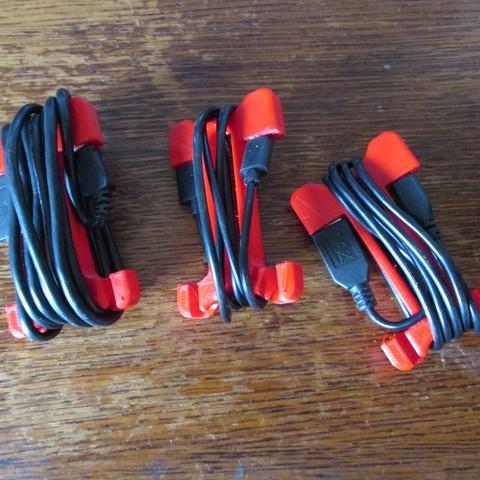 Free STL USB cable tie, Jicede71