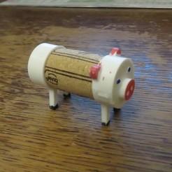 Impresiones 3D gratis Cork Pals: El Cerdo, Jicede71