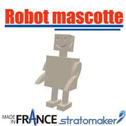 Download free 3D printer designs Stratomaker V1 Mascot Robot, EdeziV