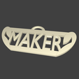 Free 3D printer file MAKER stratomaker key ring, EdeziV