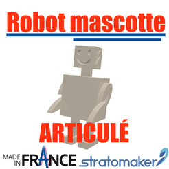 Download free 3D printer designs Robotic mascot robot V2, EdeziV