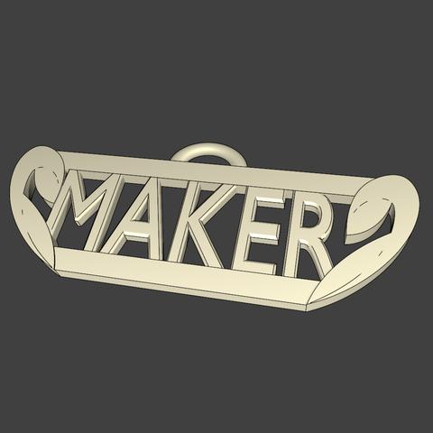porte clef render traipng.png Download free STL file MAKER stratomaker key ring • 3D printing model, EdeziV