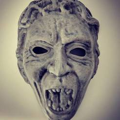 Free 3D printer file Weeping Angel Mask, BenjaminKrygsheld