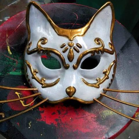 Free STL Splicer Cat Mask (Bioshock) , BenjaminKrygsheld