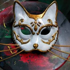 catmask.jpg Download free STL file Splicer Cat Mask (Bioshock)  • 3D print design, BenjaminKrygsheld