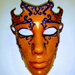 Free 3d print files Venetian mask, BenjaminKrygsheld