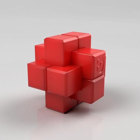 Burr_RenderAssemble.png Download free STL file 6-Piece Burr Puzzle - Set of 42 pieces • 3D printable model, ChampystileCorp