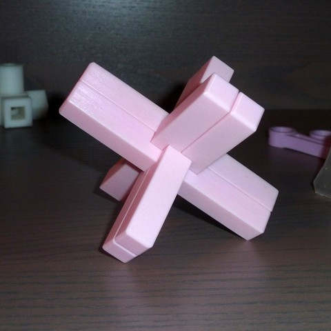 Download free STL file Cross of the Carpenter - Puzzle • 3D printable model, ChampystileCorp