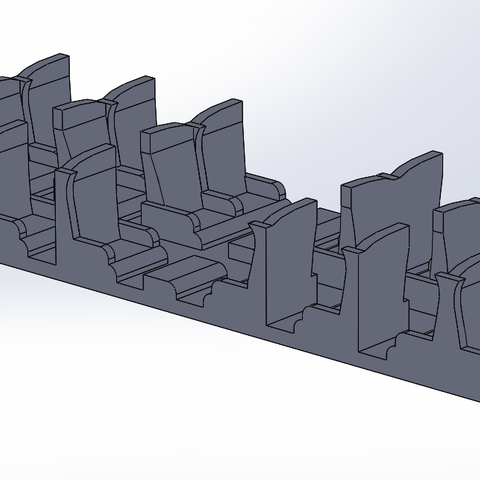 TGV POs 2.PNG Download STL file Interior fittings TGV POS Jouef 1st class HO • 3D printable template, ViniTrain