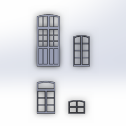 Download free STL files Various HO windows, ViniTrain