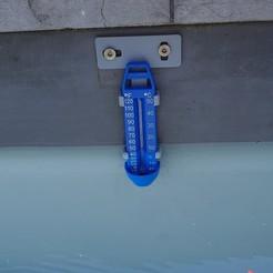 thermomètre.jpg Download STL file POOL THERMOMETER HOLDER • 3D printable design, DJE