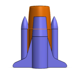 Download free 3D printer model Space Shuttle Pen Stand, Brahmabeej