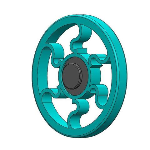 Imprimir en 3D gratis Round Fidget Spinner, Brahmabeej