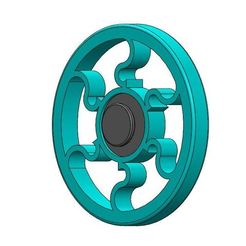 Round Spinner1.1.JPG Download free STL file Round Fidget Spinner • Template to 3D print, Brahmabeej