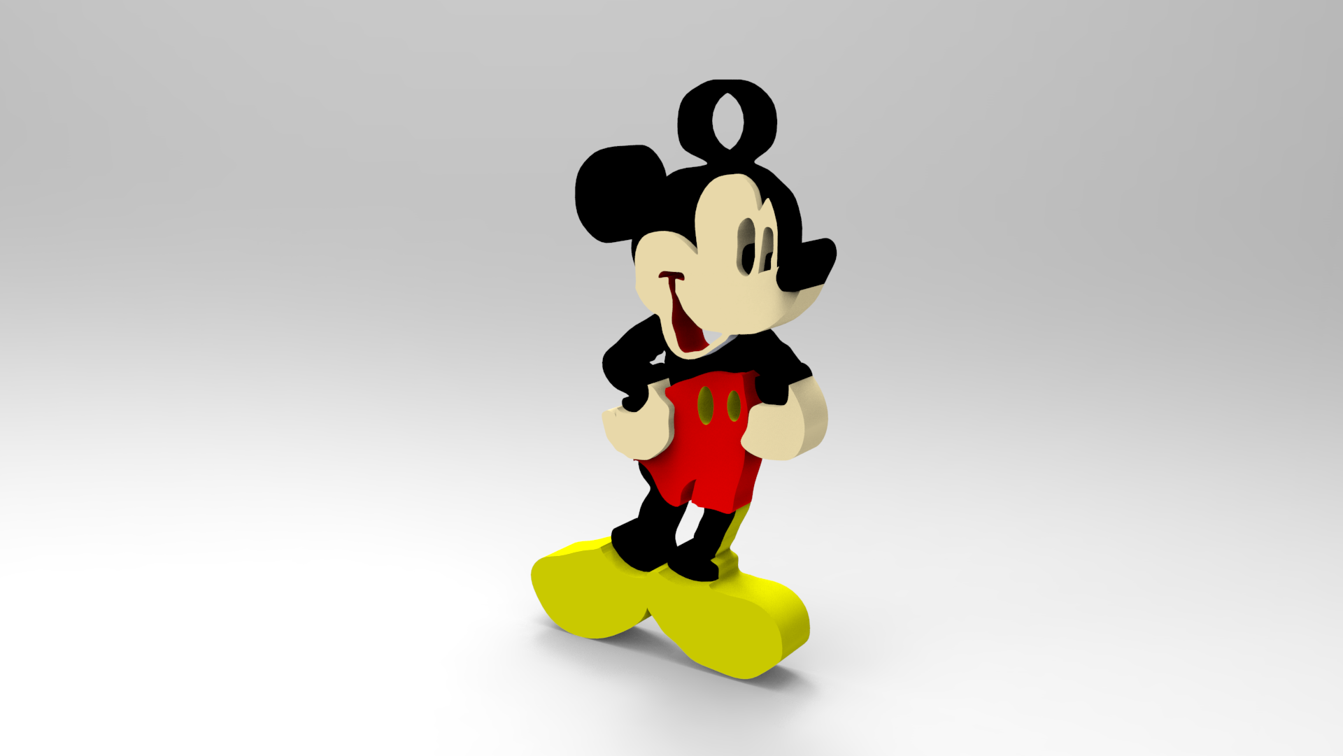 Mickey Mouse Keychain.2.png Download free STL file Key Chain • 3D printing template, Brahmabeej