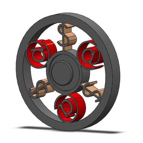 Imprimir en 3D gratis Fidget Spinner, Brahmabeej