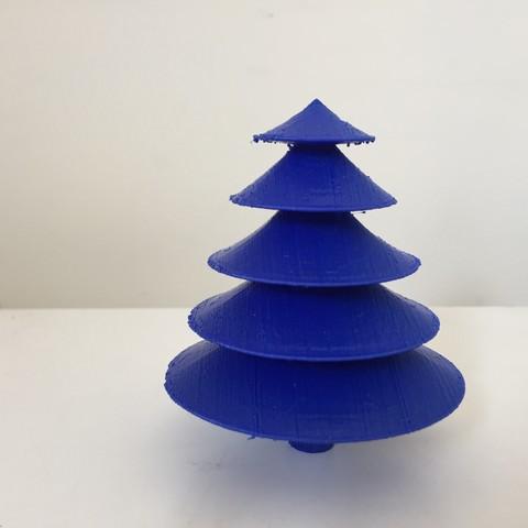 Free STL Table top Christmas tree, Brahmabeej